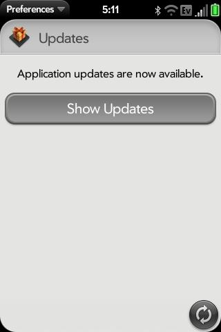 Update message