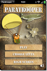 Paratrooper Opening Card